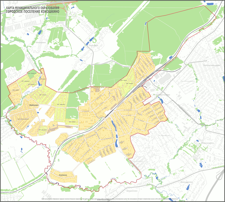 Карта Кокошкино