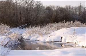 река Незнайка зимой